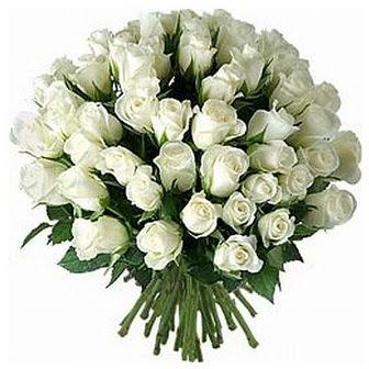 Van çiçek servisi , çiçekçi adresleri  33 adet beyaz gül buketi