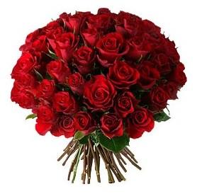 Van çiçek , çiçekçi , çiçekçilik  33 adet kırmızı gül buketi