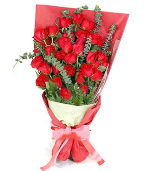 Van çiçek gönderme  37 adet kırmızı güllerden buket