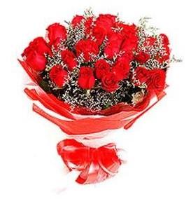 Van çiçek mağazası , çiçekçi adresleri  12 adet kırmızı güllerden görsel buket