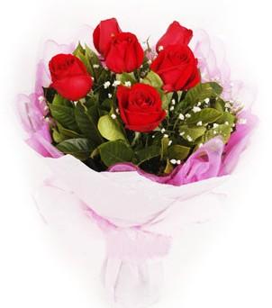 Van hediye sevgilime hediye çiçek  kırmızı 6 adet gülden buket