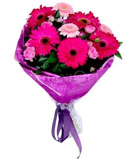 Van çiçek siparişi sitesi  karışık gerbera çiçeği buketi