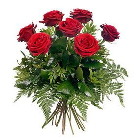 Van online çiçek gönderme sipariş  7 adet kırmızı gülden buket