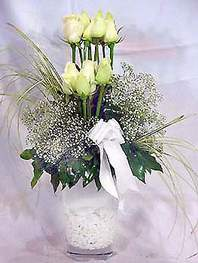 Van online çiçek gönderme sipariş  9 adet vazoda beyaz gül - sevdiklerinize çiçek seçimi