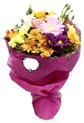 1 demet karışık görsel buket  Van anneler günü çiçek yolla