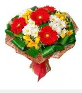1 demet karışık buket  Van hediye sevgilime hediye çiçek