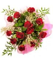 12 adet kırmızı gül buketi  Van 14 şubat sevgililer günü çiçek