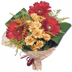 karışık mevsim buketi  Van çiçekçi mağazası