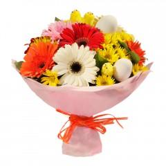 Karışık mevsim buketi Mevsimsel çiçek  Van internetten çiçek siparişi