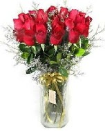 27 adet vazo içerisinde kırmızı gül  Van İnternetten çiçek siparişi