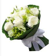 9 adet beyaz gül buketi  Van çiçek siparişi sitesi