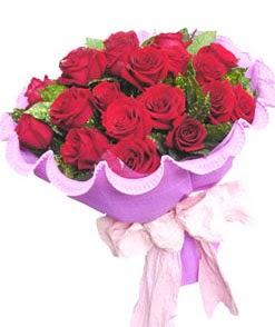 12 adet kırmızı gülden görsel buket  Van çiçekçi mağazası