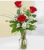 Vazo içerisinde 3 adet kırmızı gül  Van çiçek satışı