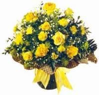 Van çiçek , çiçekçi , çiçekçilik  Sari gül karanfil ve kir çiçekleri