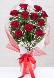 11 kırmızı gülden buket çiçeği  Van 14 şubat sevgililer günü çiçek