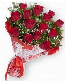 11 kırmızı gülden buket  Van güvenli kaliteli hızlı çiçek