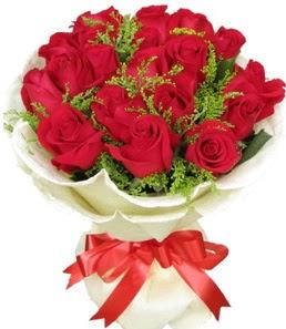 19 adet kırmızı gülden buket tanzimi  Van çiçek servisi , çiçekçi adresleri