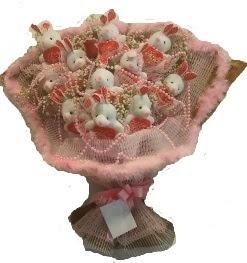 12 adet tavşan buketi  Van çiçek mağazası , çiçekçi adresleri