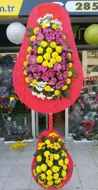 Çift katlı düğün nikah açılış çiçek modeli  Van online çiçek gönderme sipariş