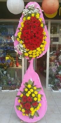 Çift katlı düğün nikah açılış çiçek modeli  Van çiçekçiler