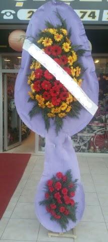 Çift katlı nikah düğüne çiçek modeli  Van internetten çiçek siparişi