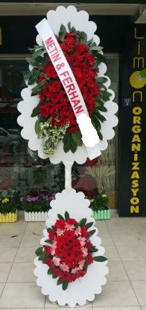 Çift katlı düğün nikah çiçeği modeli  Van çiçek siparişi sitesi