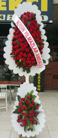 Çift katlı düğün nikah çiçeği modeli  Van hediye çiçek yolla