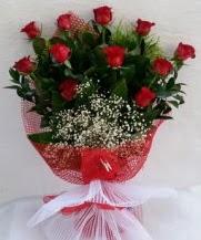 11 adet kırmızı gülden görsel çiçek  Van çiçek satışı