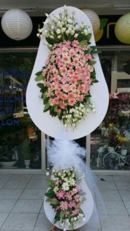Çift katlı özel şahane sepet çiçeği  Van çiçekçi telefonları