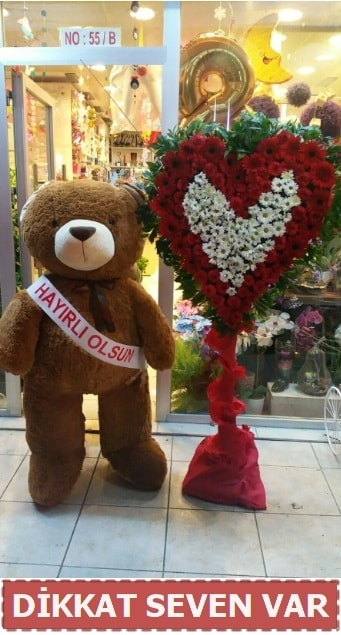 1.5 Metre peluş ayı ve Kalp  Van çiçek gönderme sitemiz güvenlidir