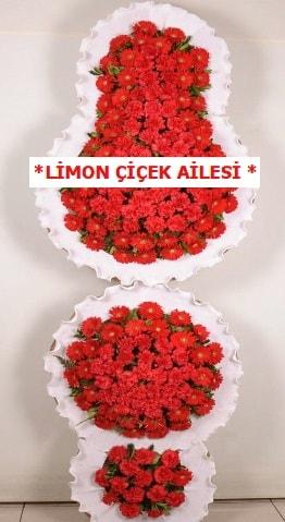 3 katlı kırmızı düğün açılış çiçeği  Van çiçek gönderme