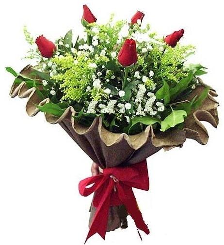 5 adet gülden buket  Van çiçek gönderme sitemiz güvenlidir