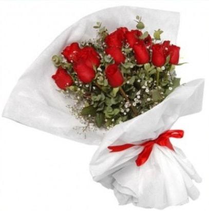 9 adet kırmızı gül buketi  Van çiçekçi mağazası