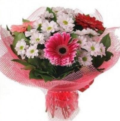 Gerbera ve kır çiçekleri buketi  Van internetten çiçek siparişi