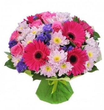 Karışık mevsim buketi mevsimsel buket  Van çiçek satışı