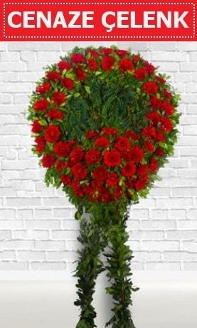 Kırmızı Çelenk Cenaze çiçeği  Van İnternetten çiçek siparişi