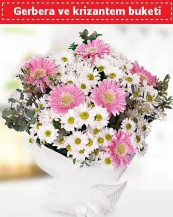 Papatya ve Gerbera Buketi  Van çiçek , çiçekçi , çiçekçilik