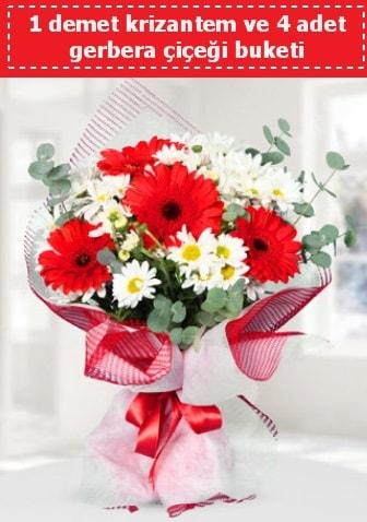 Krizantem ve Gerbera Buketi  Van çiçek siparişi sitesi
