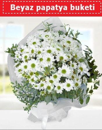 Beyaz Papatya Buketi  Van 14 şubat sevgililer günü çiçek