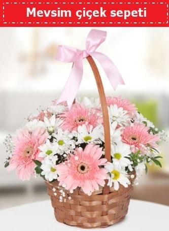 Mevsim kır çiçek sepeti  Van çiçek , çiçekçi , çiçekçilik